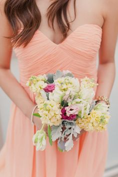 Peach bridesmaid ♥