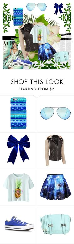 """""""Funny Bleu Summer Outfit"""" by irisotten ❤ liked on Polyvore featuring Uncommon, Victoria Beckham, Black Rivet, Chicnova Fashion, Converse, Blugirl and plus size clothing"""