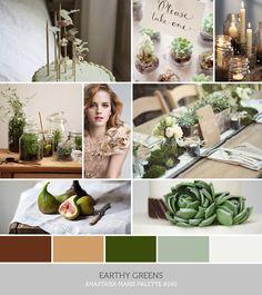 Mariage inspirations pour l'annee 2014 Nature Color Palette, Green Palette, Colour Palettes, Color Inspiration, Wedding Inspiration, Inspiration Boards, Wedding Ideas, Orange Wedding, Wedding Colors