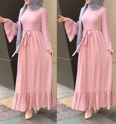 Maxi dresses with hijab styles Just Trendy Girls İslami Erkek Modası 2020 Abaya Fashion, Modest Fashion, Fashion Dresses, Fashion Styles, Muslim Women Fashion, Islamic Fashion, Mode Abaya, Mode Hijab, Hijab Style Dress