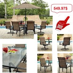 Outdoor Furniture 7 Piece Dining Set