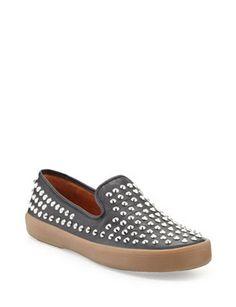 REBECCA MINKOFF Kory Studded Leather Sneaker