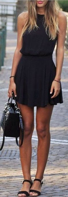 Best street fashion inspiration & looks. little black dress.