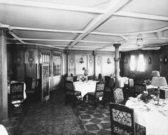 First-Class Dining Saloon on the Mauretania. Repro ID: A2981 ©National Maritime Museum, Greenwich, London