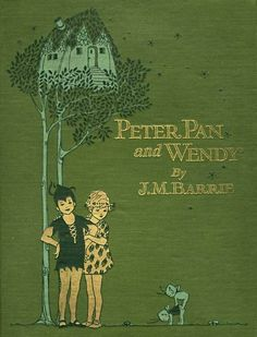 Book cover, PeterPan and Wendy.Lucie Attwell. English illustrator, (1879 – 1964)
