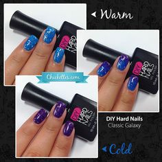 DIY Hard Nails color changing gel polish - Classic Galaxy www.diyhardnails.com