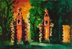 Blenheim Gates Etching by John Piper