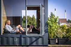 The homes are made from upcycled shipping containers, which were chosen for ease and affordability of transport, and to keep building costs to a minimum.