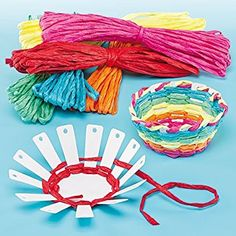 DIY Woven Bowl with FREE Printable Template Card Basket Weaving Kits 6 Colors of Raffia, Finished Size Kid's Craft Activities Great for Mother's Day & Easter- Pack of 4 Easy Paper Fan WatermelonRainbow Unicorn Fluffy Of The BEST Crafts For Craft Activities For Kids, Projects For Kids, Crafts For Kids, Craft Projects, Arts And Crafts, Children Crafts, Kids Craft Kits, Easter Crafts Kids, Craft Ideas