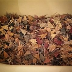 1300 #papercranes in a tub. Because,  why not? 703designs