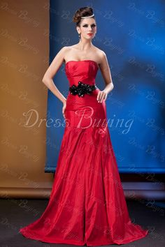 Chic Mermaid/Trumpet Floor-Length Strapless Taline's Evening Dress