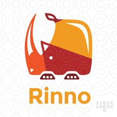 Stylized, clean, bold and rather square rhino shape. Rhino Logo, Make Your Logo, Social Media Design, Business Cards, Templates, Cat, Shape, Logos, Lipsense Business Cards