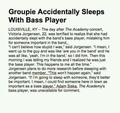 Bass player accident