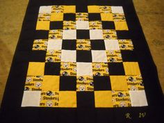 Handmade Pittsburgh Steelers Throw Quilt by OzarkMountainQuilts, $60.00