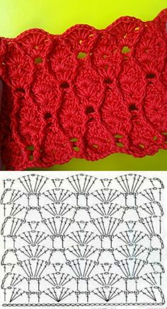 Marvelous Crochet A Shell Stitch Purse Bag Ideas. Wonderful Crochet A Shell Stitch Purse Bag Ideas. Crochet Stitches Chart, Crochet Motifs, Crochet Diagram, Crochet Ripple, Crochet Cable, Diy Crochet, Knitting Patterns, Crochet Patterns, Beautiful Crochet