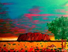 SACRED acrylic on canvas by Christopher Eades - $180 available to buy at bluethumb.com.au/crissafix #Australia #landscape #art #painting