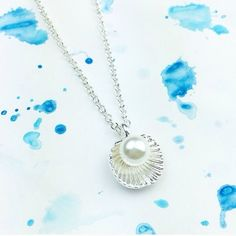 Wila faux pearl beach clamshell necklace! NEW Wila  faux pearl beach clamshell necklace! Made from alloy metals and a faux pearl. Perfect jewelry piece for the beach or for any day! Photo courtesy of Shopwila! ✨✨✨ Wila Jewelry Necklaces