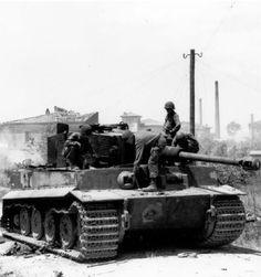 Tiger du Leutnant Wilhelm Keitel de la s.Panzer-Abteilung 504 sur le front Italien. La 3. Kompanie y appuyait les SS de la 16. SS-Panzer-Grenadier-Division « Reichsführer-SS » dans les durs combats pour le village de Cecina en juin et début juillet 1944. Ce Tiger, le Nr. 221, sera détruit à bout portant par un Sherman de la B Company du 752nd Tank Battalion.