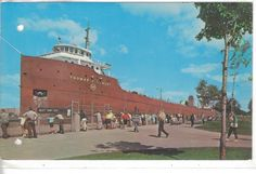 "Freighter ""Thomas W. Lamont"" in the Soo Locks-Sault Ste. Marie,Michigan"