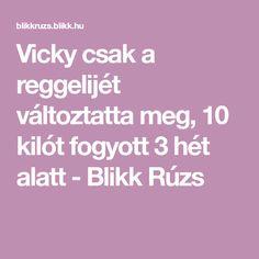 Vicky csak a reggelijét változtatta meg, 10 kilót fogyott 3 hét alatt - Blikk Rúzs