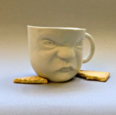 Porcelain Cup  Baby Face by SCULPTUREinDESIGN on Etsy, $15.00