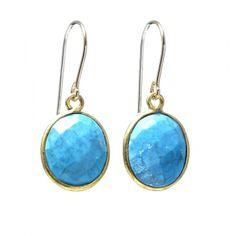 Turquoise & Vermeil Earrings www.jewelya.com
