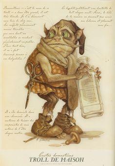 Troll de Madison by tony diterlizzi Forest Creatures, Magical Creatures, Fantasy Creatures, Troll, Spiderwick, Kobold, Fantasy Kunst, Mythological Creatures, Field Guide