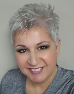 Short Silver Pixie Cut | Silver