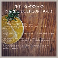 The Rosemary Maple Bourbon Sour // The Recipe In the spirit of #tbt ...