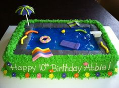 Pool Party birthday www.facebook.com/sweetendingsbyj More