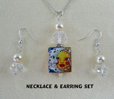 Scrabble Jewelry  Sun & Moon Celestial  With by MaDGreenCreations, $12.95