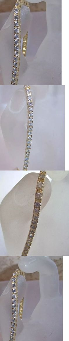 Diamond 10976: 4.00 Ctw Si2 E Color 14K Gold Diamond Tennis Bracelet -> BUY IT NOW ONLY: $1499 on eBay!