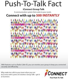 Connect with a large group, instantly. Read more http://iconnectasia.com/iconnectguam/services/push-to-talk/