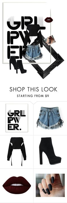 """""""Untitled #5"""" by lonelyunique ❤ liked on Polyvore featuring Linda Horn, Stupell, WithChic, Dorothee Schumacher, Casadei and Lime Crime"""
