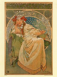 Art nouveau Poster Art Print by Alphonse Mucha Hyacinta