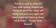 Nzinga explains an eye opening aspect of the trip she took to Ghana and what it means to her.