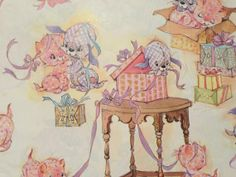 Vintage Gift Wrapping Paper  Celebration