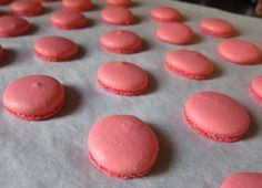 Carol Gillot makes pink macarons...someday I will too !