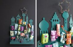 advent calendar - great backdrop and colour palette