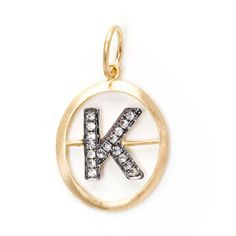 Mythology Alphabet K Pendant