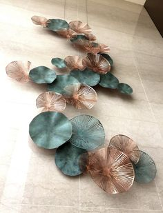 LTW Designworks, Singapore: copper and patinated copper wall sculpture for the Mandarin Oriental Macau