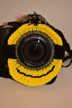DSLR crochet minion lens buddy camera buddy by ParshallMomCrochets