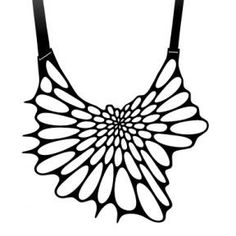 Lemurian Sea - Nervous System Radiolaria necklace - black, $80.00 (http://www.lemuriansea.com/nervous-system-radiolaria-necklace-black/)