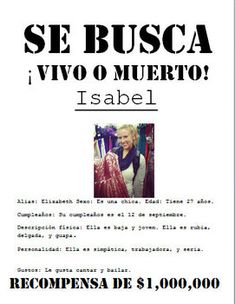 SE BUSCA Wanted Poster : Beginner / Middle School Spanish