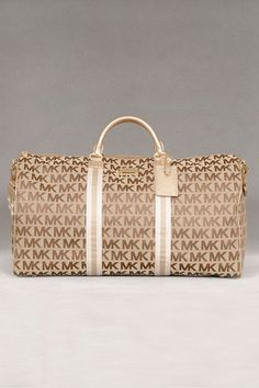 Michael Kors Duffle Bag ~ Beige/Gold