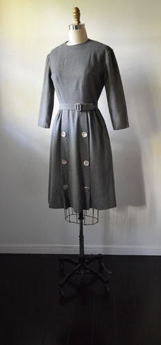 Hey, I found this really awesome Etsy listing at https://www.etsy.com/listing/213973186/vintage-dress-1950s-gray-wool-dress-with