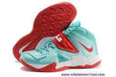 Cheap Mint Green/Red Nike Lebron Zoom Soldier VII