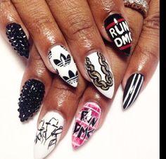 Run DMC nail art http://hubz.info/art