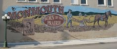 Wall mural in Monmouth, Illinois. The town is on the Ronald Reagan Trail and it is also the birthplace of Wyatt Earp.
