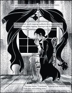 Edgar Allan Poe's 'The Raven,' adapted by Yien Yip.   via: The Best Graphic Novels and Graphic Nonfiction of 2012 | Brain Pickings